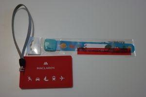 Zawieszka na wózek oraz bransoletka na rękę dziecka z naszymi danymi dla bezpieczeństwa